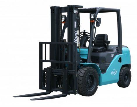 Baoli KBG30 új gázüzemú villástargonca 3 tonna teherbírás 3000 mm emelés