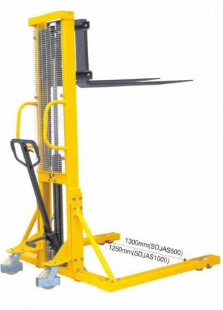 BSDJ-AS-1000 1 tonna 1600 mm támasztólábbal hidraulikus kézi raklapemelő Terpesztargonca 1000 kg teh
