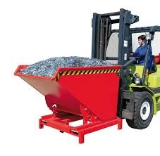 Dönthető, üríthető tároló edény 0,3 - 2,1 m3 között 4000 kg teherbírással.