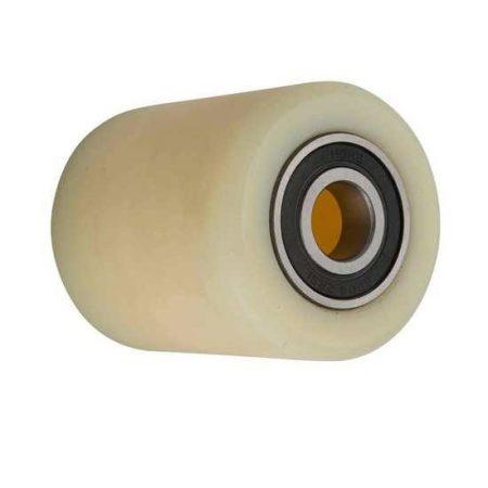 82 mm Ø raklapemelő béka görgő  91 mm széles polyamid 17, 20, 25 mm válaszható tengely átmérő