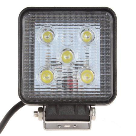 Ledes fényszóró szögletes 12V - 24V 15W LED világítás