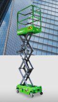 MK390 személyemelő, 5,9 méter munkamagasságú szerelőkosár. elektromos, emelés, kézi