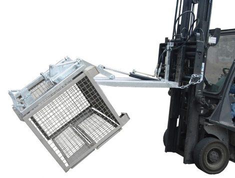 Rácsos tároló konténer ürítő - hidraulikus