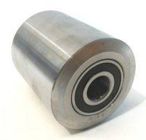 55 mm átmérő acél raklapemelő, raklapmozgató görgő szélesség: 80 mm tengely átmérő: 20 mm