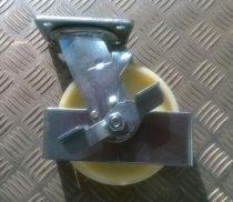 Ø 148 mm támasztó, stabilizáló kerék fékkel targonca raklapemelő kerék poliamid futófelület