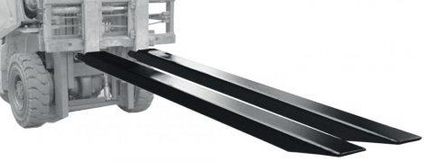 Targonca villahosszabbító - villaméret 125x50 mm 1600 vagy 1800 vagy 2000 mm 1 pár