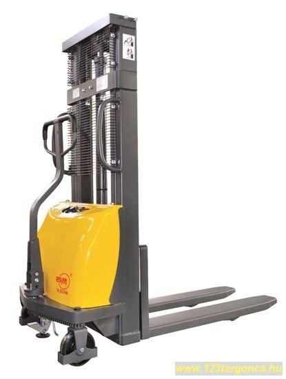 BCDD10B-III /2.5 Targonca 1000 kg teherbírás, 2500 mm emelés 1 év garanciával! Félelektromos magasemelésű gyalogkíséretű targoncák elektromos emeléssel de kézi mozgatással