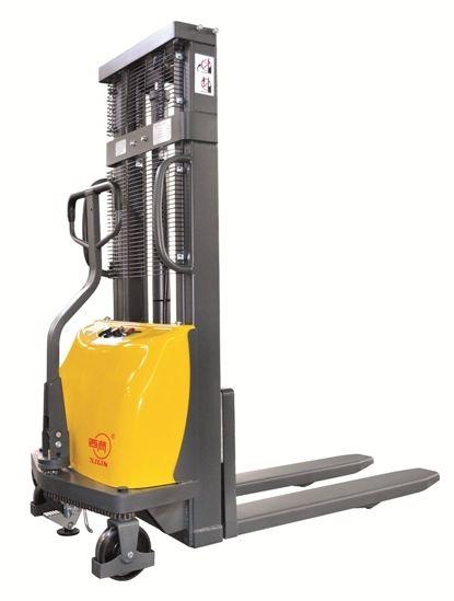 BCDD10B-III /3.0 targonca 1000 kg teherbírás 3000 mm emelés 1 év garanciával! Magasemelésű gyalogkíséretű targonca, elektromos emelés, kézi mozgatás