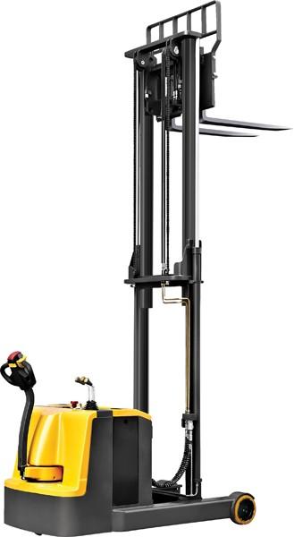 BCQD15W tolóoszlopos, ellensúlyos, gyalogvezérlésű targonca - igazi unikum! Teherbírás 1500 kg, emelési magasság 2500 - 5600 mm között.