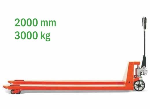BF2000 3T hosszúvillás raklapmozgató raklapemelő kézi targonca 3000 kg