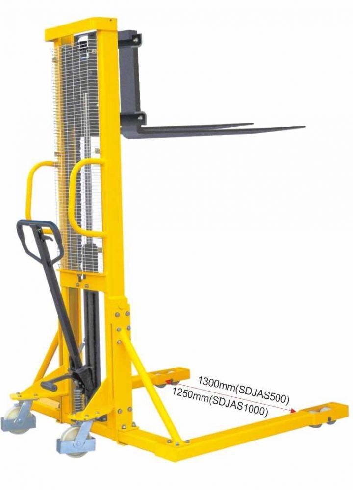 BSDJ-AS-1000 1 tonna 1600 mm támasztólábbal hidraulikus kézi raklapemelő Terpesztargonca 1000 kg teherbírás 1600 mm emelés