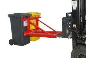 Kukaemelő továbbító adapter 2 db 80 - 120 - 240 - 340 literes kukához. Targonca villára húzható szemetes emelő szerkezet