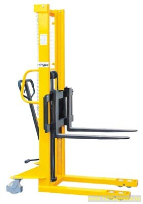 BSDJ-A-1000 1 tonna 1,6 méter állítható villás hidraulikus magasemelő targonca 1000 kg teherbírás 1600 mm emelés EUR raklaphoz nem jó!
