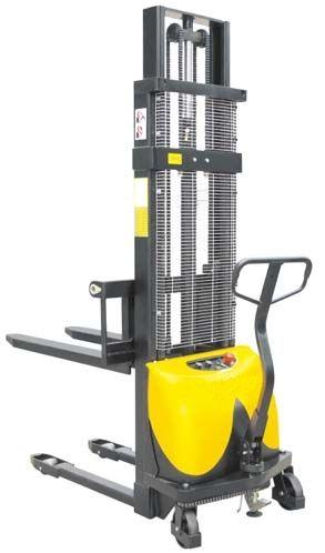 BCDD15B/1.6  1500 kg teherbírás 1600 mm emelés, állítható villa 2 év garanciával! Magasemelésű félelektromos targonca elektromos emelés, kézi mozgatás