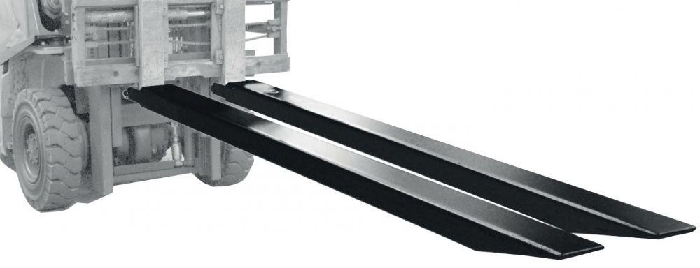 Villahosszabbító - villaméret 120x50 mm 1600 vagy 1800 vagy 2000 mm 1 pár, pl. pl. 4000 kg teherbírású targonca számára, zárt kivitel