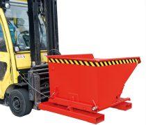3 irányban dönthető fémreszelék tartály, 0.75-1 tonna teherbírással