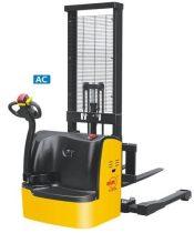 BCTDR15 gyalogvezérlésű terpeszkerekes targonca 3000 mm emeléssel 1500 kg teherbírású 1,5 tonna