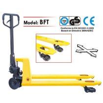 BFT25 hidraulikus kéziemelő raklapmozgató raklapemelő béka 2500 kg teherbírás 1150 mm hosszú villa