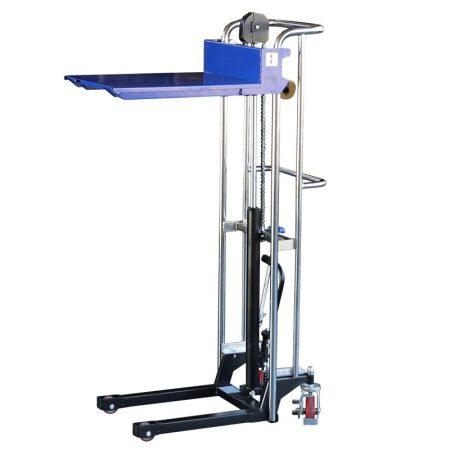 PK0415 400 kg teherbírás, 0,85 méter emelés. Emelőasztal hidraulikus kézi magasemelő