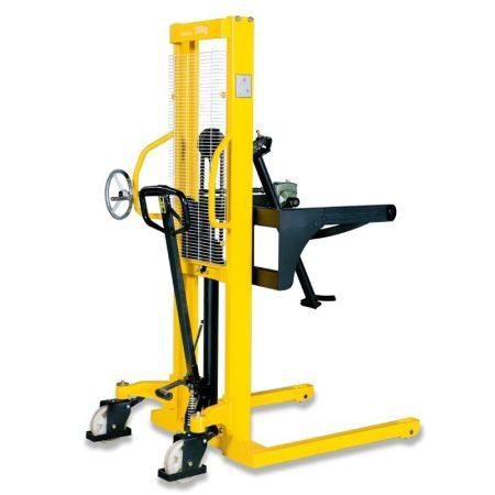 WDS 350 kg 1,6 méter emelésű hordóborító adapterrel hidraulikus kézi hordóemelő. Gyári, közvetlen importból, 1 év garanciával!