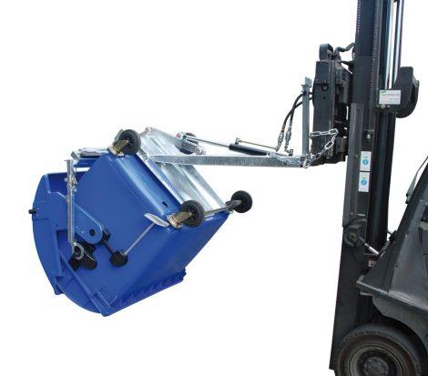 Hulladék tároló műanyag konténer ürítő - hidraulikus