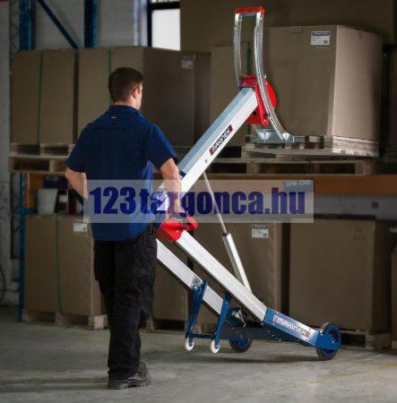 MAKINEX 140 + VILLÁS ADAPTER KÉSZLETRŐL! Kompakt félelektromos emelő összecsukva 200x74x27 cm önsúly 44kg teherbírás 140kg