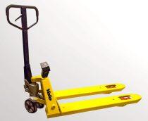 Mérleges raklapmozgató, kézi raklapemelő targonca mérleggel 2000 kg teherbírás, digitális kijelző 1
