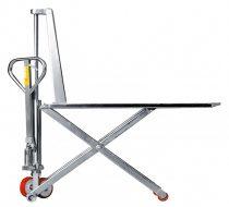 PRAMAC Inox, rozsdamentes ollós raklapemelő 1000 kg teherbírással