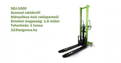 SDJ-1000 1000 kg 1600 mm emelési magasságú hidraulikus kézi magasemelő.