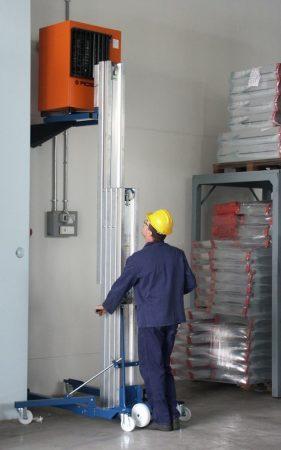 Kézi magasemelő 380 kg teherbírással 3850 mm emeléssel, csörlős teheremelő szereléshez