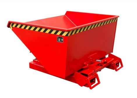 Targonca villára húzható automata dönthető konténer, 1 - 1,5 tonna teherbírással