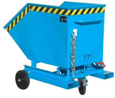 Alacsony építési magasságú dönthető fémreszelék tartály, 0.3 tonna teherbírással