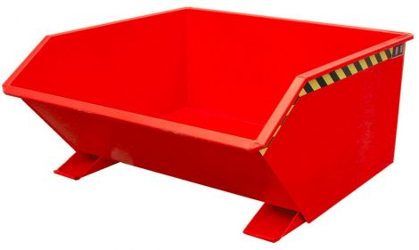 Targonca villára húzható alacsony borítható, dönthető konténer, billencs, 0,3-2 tonna teherbírással