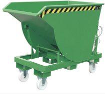Targonca villára húzható ipari borítható, dönthető konténer, 1,5-3 tonna teherbírással