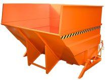 Targonca villára húzható, nagy térfgatú (2-5 m3) dönthető ipari billencs, 2,5 tonna teherbírással