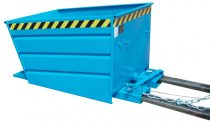 Targonca villára húzható dönthető konténer új karkioldó mechanizmussal, 0,75-1,5 tonna teherbírással