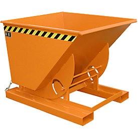 Targonca villára húzható borítható, dönthető konténer, 1 tonna teherbírással
