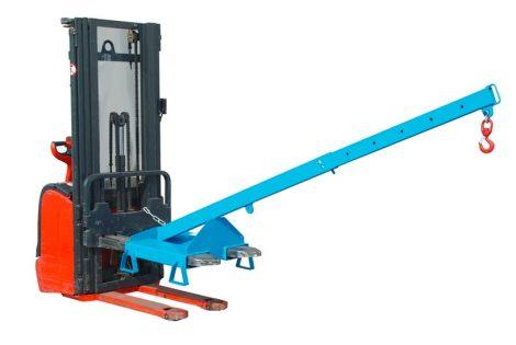 Targonca villára húzható fix vagy teleszkópos rakodókar adapter 5000 - 200 kg teherbírással