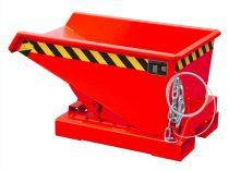 Targonca villára húzható MINI előre gördülő konténer, 0,75 tonna teherbírással