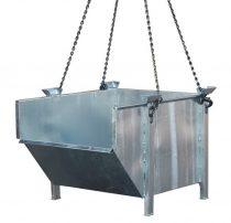 Daruzható építési konténer 1 tonna teherbírással