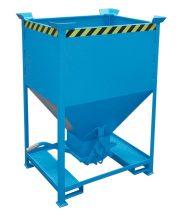 Gabonatároló siló konténer, targonca villára húzható 375-600 liter
