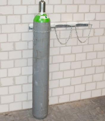 Gázpalack tartó fali konzol