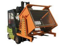 Targonca villára húzható gitterbox ipari ürítő adapter egyedi méretezéssel