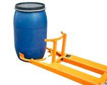 Hordófogó targonca adapter 1-2 db 120-220 literes műanyag hordóhoz