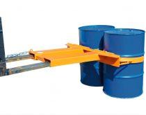 Hordófogó targonca adapter 1-2 db 200 literes acél hordóhoz