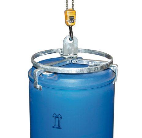 Daruzható hordófogó adapter 200-220 literes álló pozíciójú műanyag és acél hordókhoz