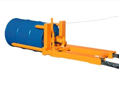 Hordófordító targonca adapter 1-2 db 200 literes acél hordóhoz
