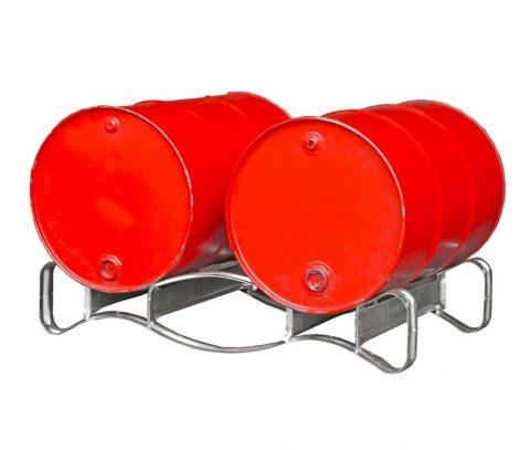 Hordótároló polc depó 1-3 hordó tárolására