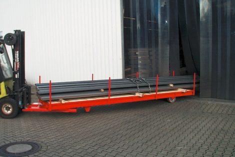 Targonca villára húzható hosszúáru szállító 5000 kg teherbírással STS