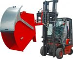 Targonca villára húzható ivelt hulladékgyűjtő konténer fedéllel, 1 és 1,5 tonna teherbírással